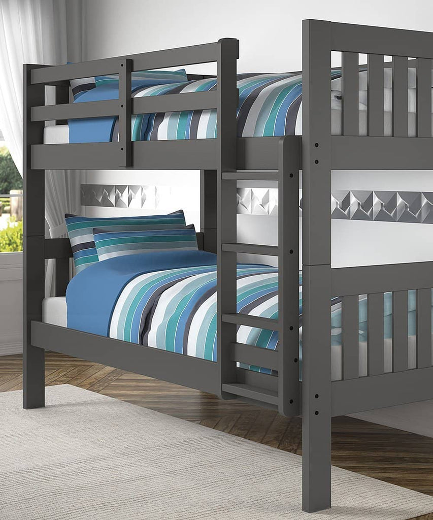 Gavin Gray Twin Bunk Bed Custom Kids Furniture