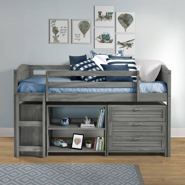 Hailey Grey Loft Bed for Kids Custom Kids Furniture