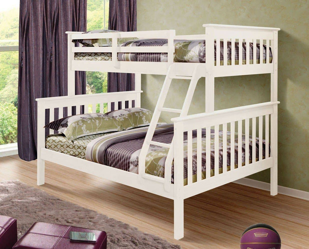 Hazel White Bunk Bed Custom Kids Furniture
