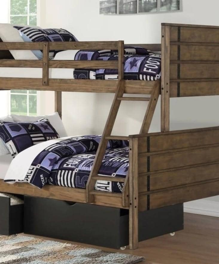 Huck Bunk Bed with Storage Custom Kids Furniture