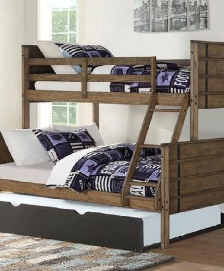 Huck Bunk Bed with Trundle Custom Kids Furniture