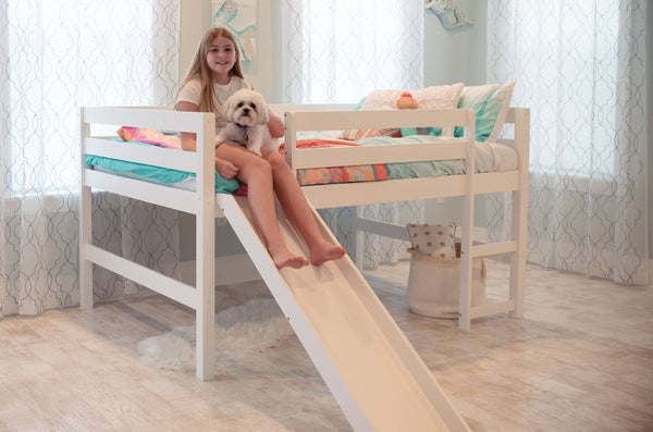 Hudson Full Loft Bed with Slide Custom Kids Furniture