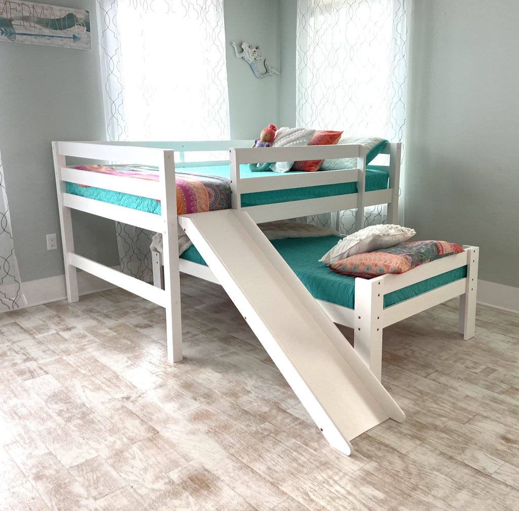 Hudson Full over Twin Bunk Bed with Slide Custom Kids Furniture