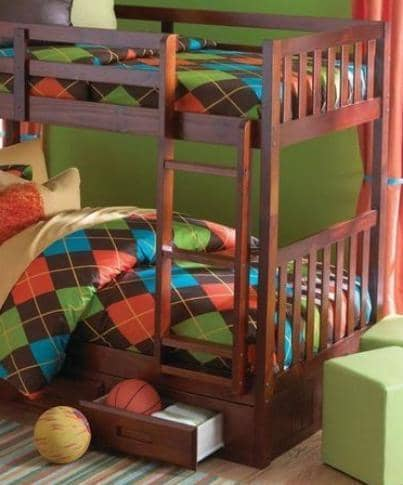 Isla Merlot Twin Bunk Bed Custom Kids Furniture