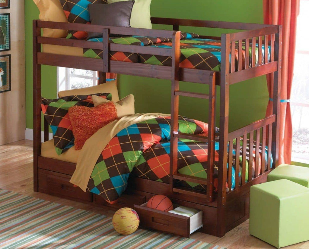 Isla Twin Bunk Bed with Storage Custom Kids Furniture