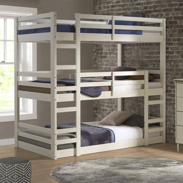 Jocelyn White Triple Bunk Bed Custom Kids Furniture
