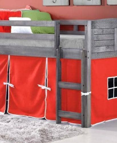 Jordan Gray Loft with Red Tent Custom Kids Furniture
