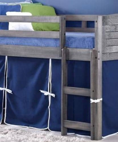Jordan Gray Twin Loft Bed with Blue Tent Custom Kids Furniture