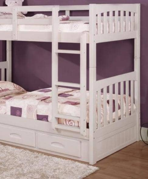 Julia White Bunk Bed Custom Kids Furniture
