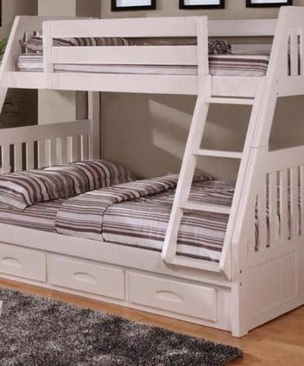 Julia White Twin over Full Bunk Bed Custom Kids Furniture