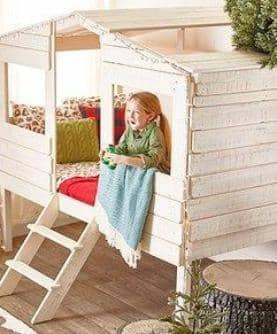 Liam White Club House Loft Bed Custom Kids Furniture