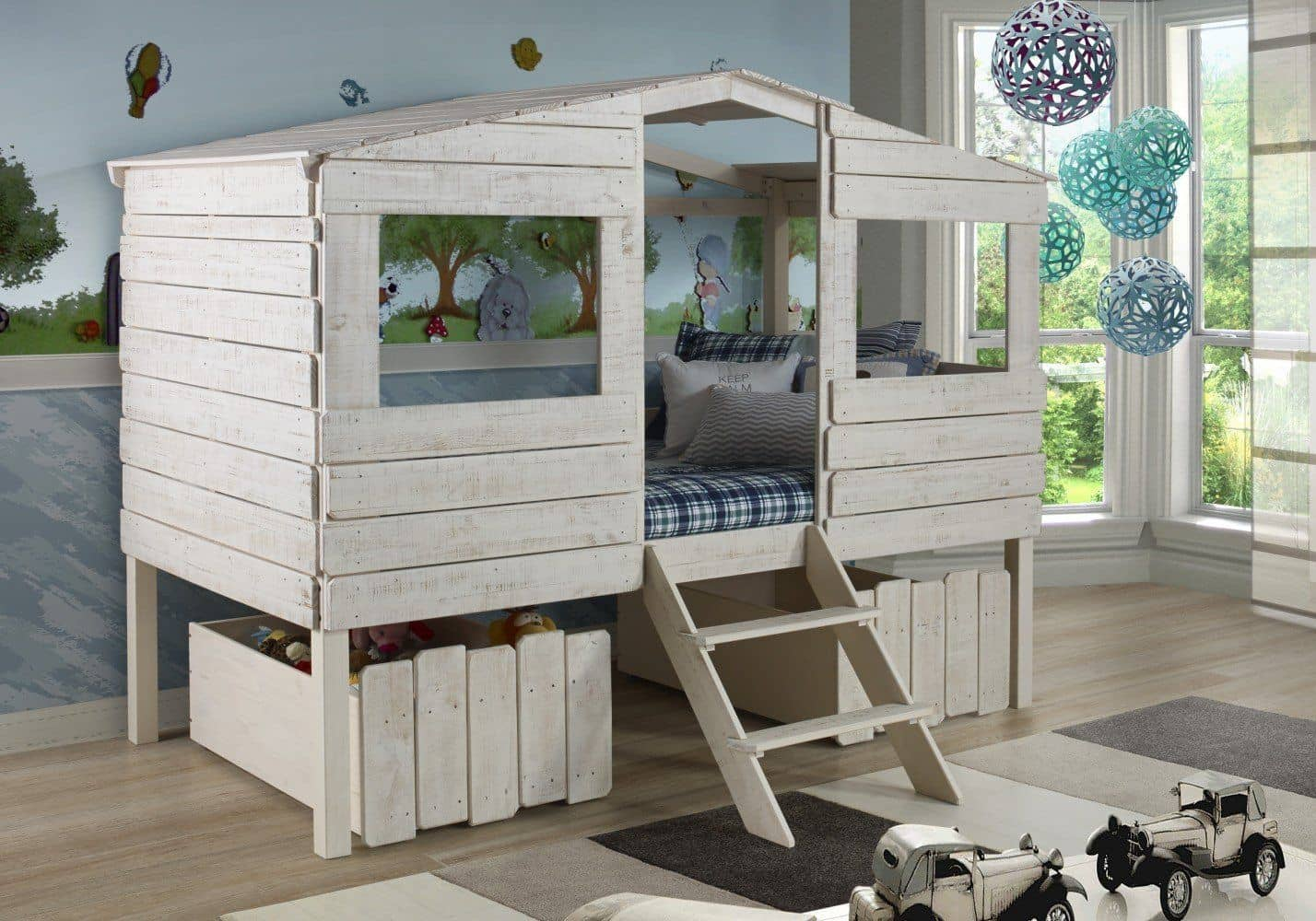 Image of: Liam Club House Loft Beds For Kids