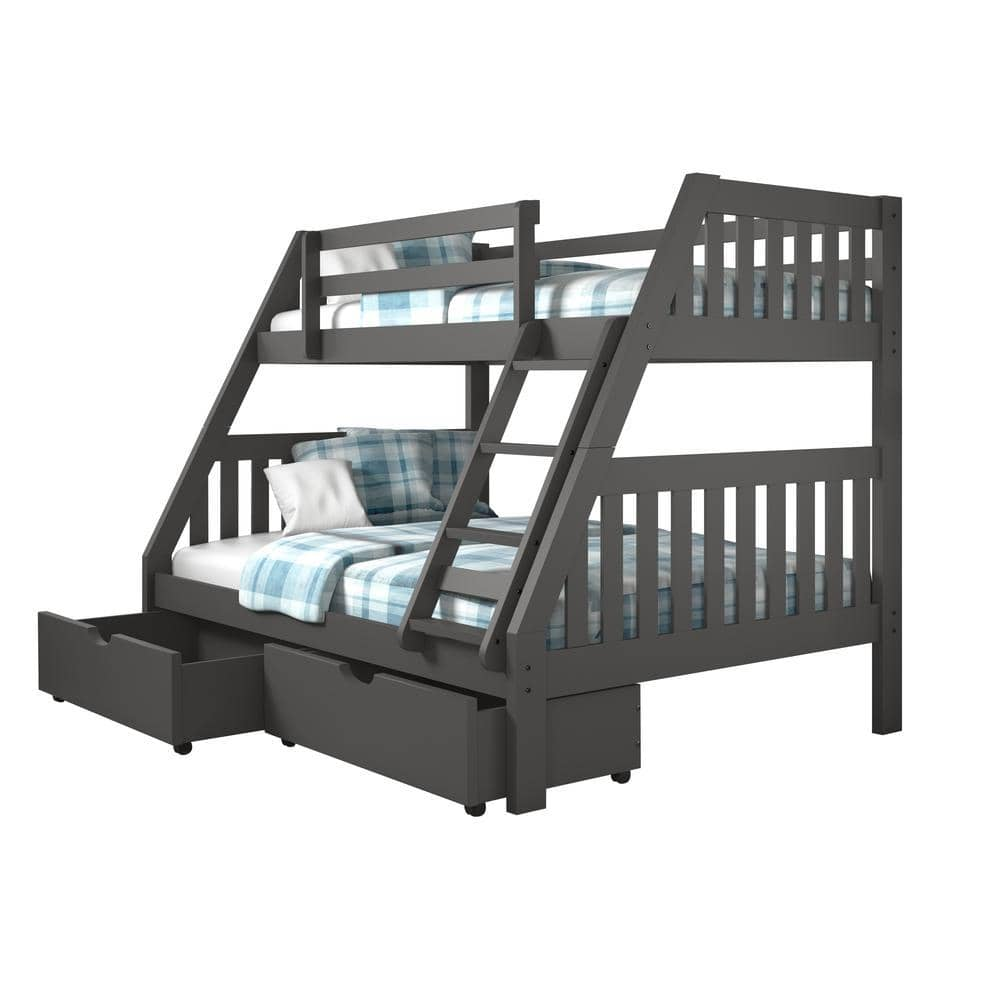 Lila Modern Bunk Bed with Storage Custom Kids Furniture
