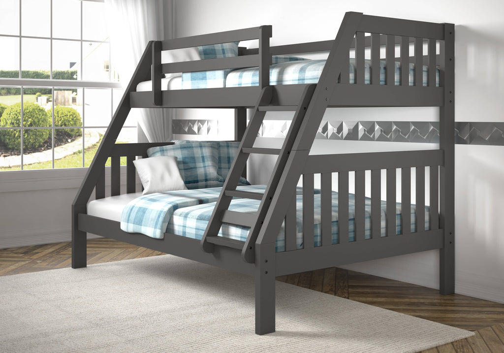 Lila Modern Twin over Full Bunk Bed Custom Kids Furniture