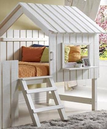 Lily White Fort Loft Bed Custom Kids Furniture