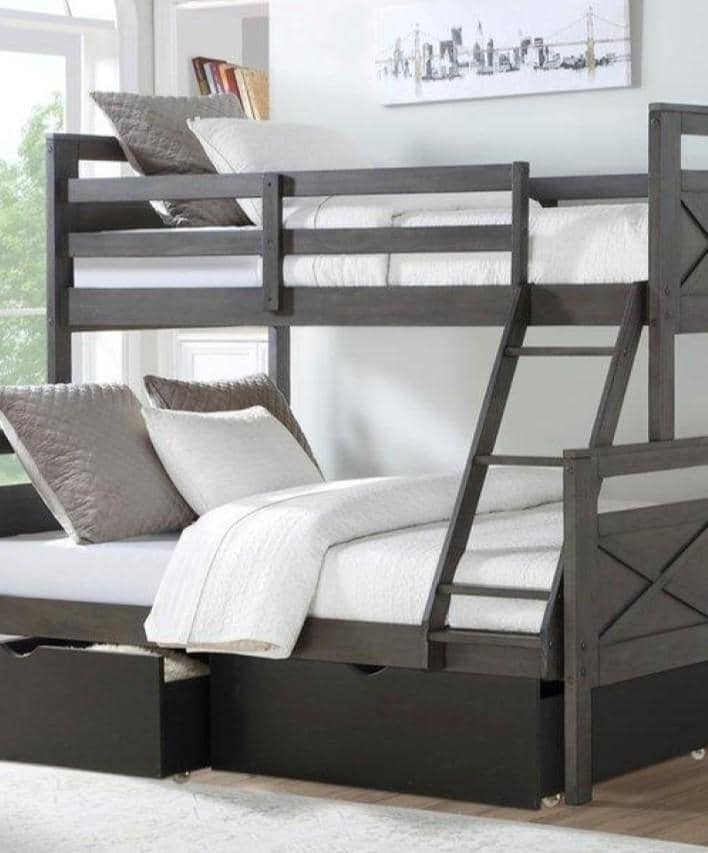 Lulu Bunk Bed with Storage Custom Kids Furniture