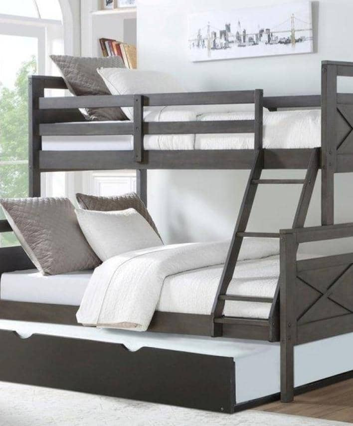 Lulu Bunk Bed with Trundle Custom Kids Furniture