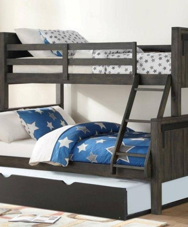 Mac Modern Bunk Bed with Trundle Custom Kids Furniture
