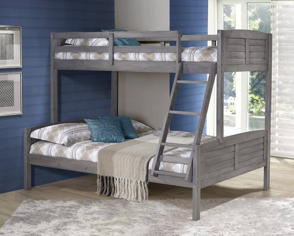 Madison Gray Twin over Full Bunk Bed Custom Kids Furniture