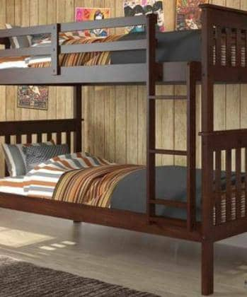 Mason Cappuccino Twin Bunkbed Custom Kids Furniture