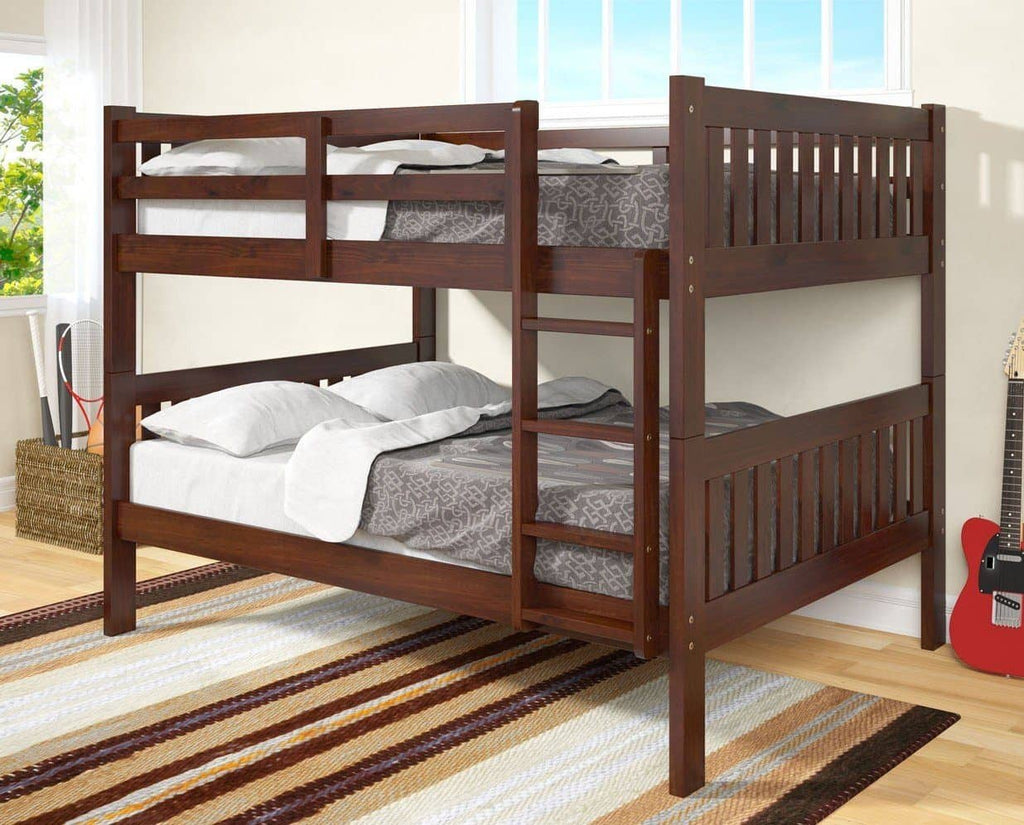 Max Full Size Cappuccino Bunk Beds for Kids Custom Kids Furniture