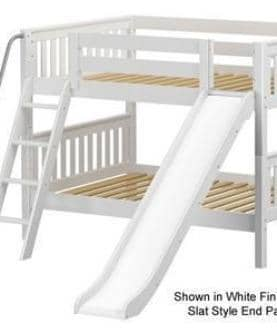 Maxtrix Full over Full Bunk Bed with Slide Custom Kids Furniture