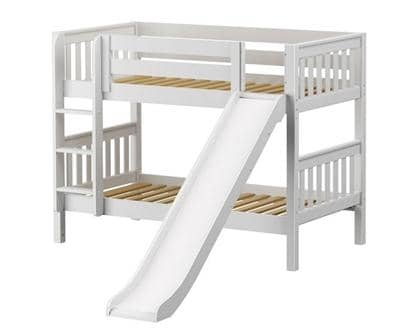 Maxtrix Low Bunk Bed with Slide Custom Kids Furniture
