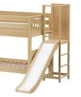 Maxtrix Twin Bunk Bed with Slide and Platform Custom Kids Furniture