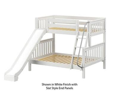 Maxtrix Twin over Full Bunk Bed with Slide Custom Kids Furniture