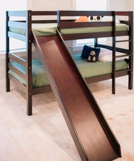 Micah Bunk Bed with Slide Custom Kids Furniture