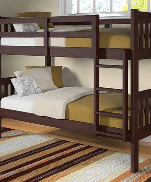 Morgan Modern Cappuccino Bunk Bed Custom Kids Furniture