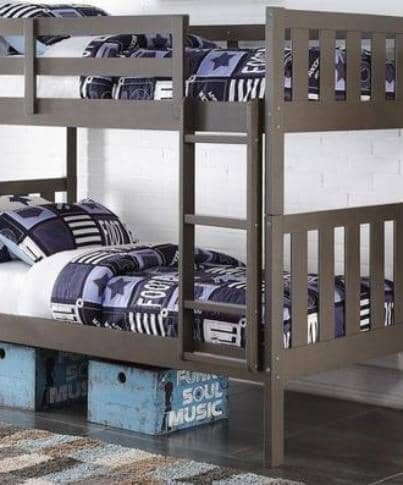 Nathan Slate Gray Bunk Bed Custom Kids Furniture