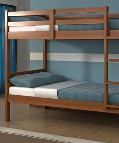 Nathaniel Espresso Wooden Bunk Bed Custom Kids Furniture