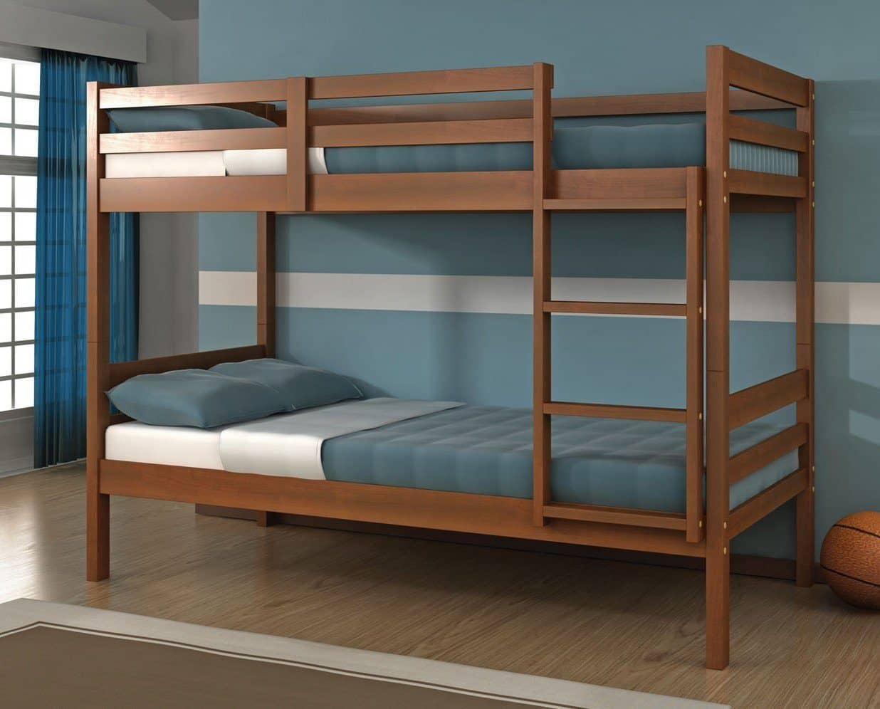 Picture of: Nathaniel Espresso Wooden Bunk Bed