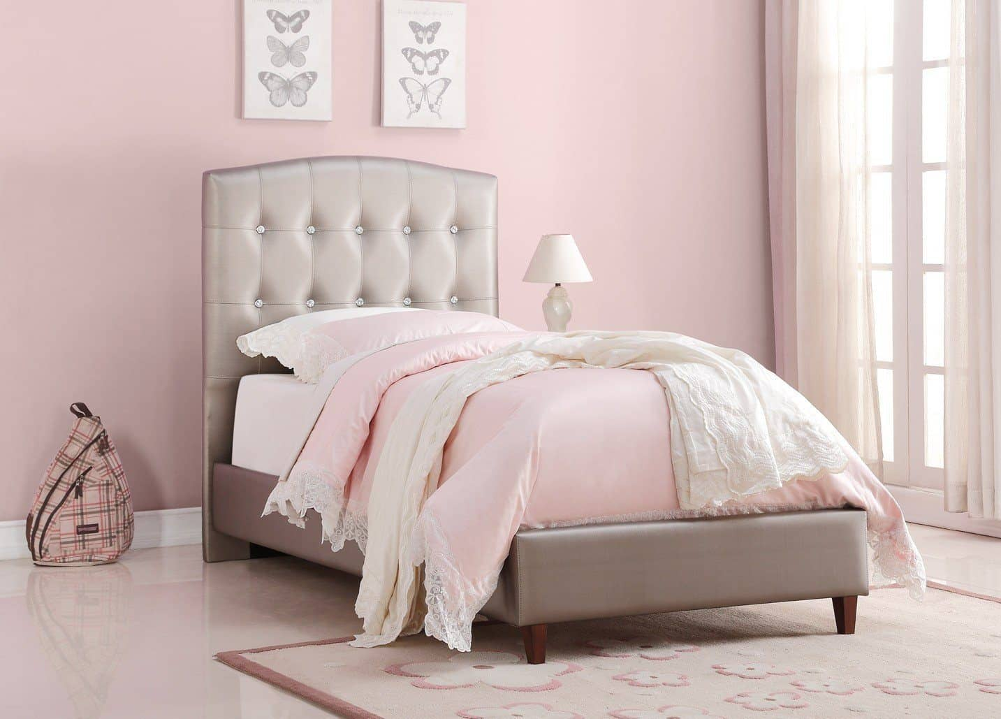 Picture of: Nevaeh Princess Upholstered Bed