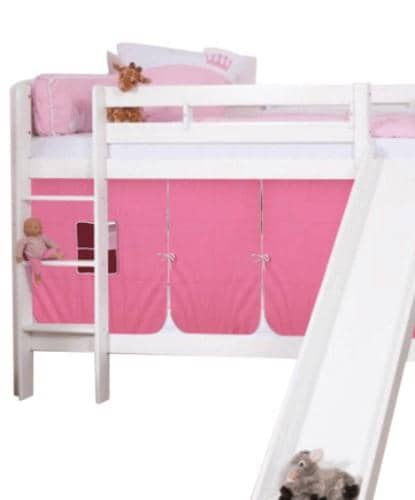Olivia Bunk Bed with Slide and Tent for Girls Custom Kids Furniture