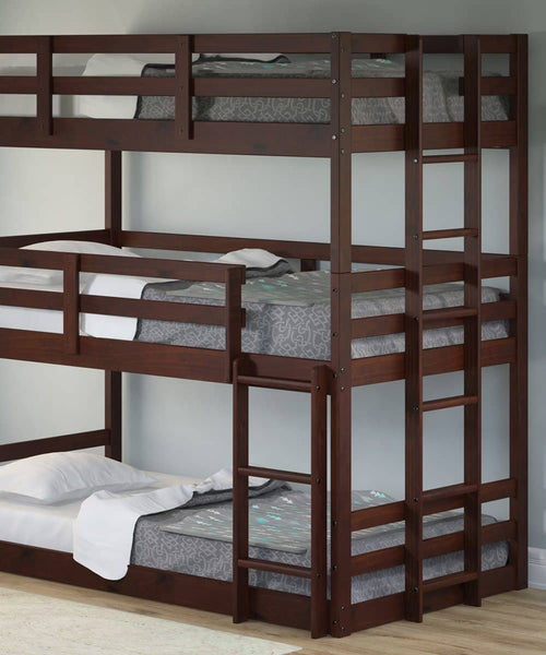 Paisley Cappuccino Triple Bunk Bed Custom Kids Furniture