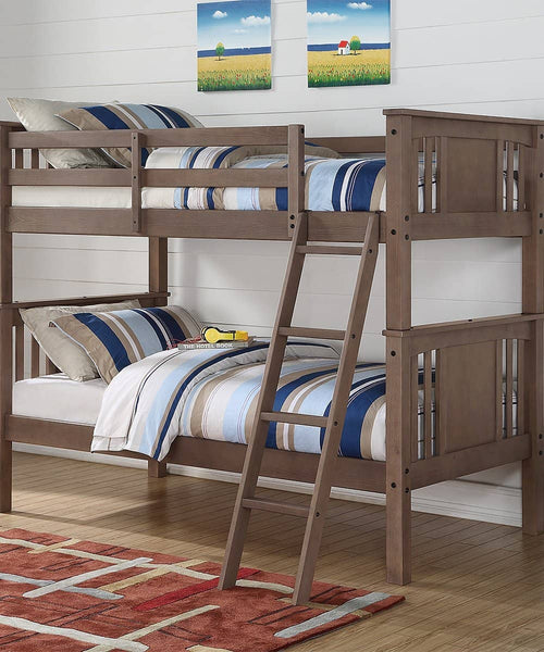 Patrick Grey Twin over Twin Bunk Bed Custom Kids Furniture