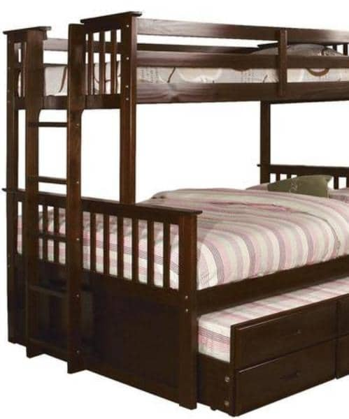 Penelope Twin XL over Queen Captains Bunk Bed Custom Kids Furniture
