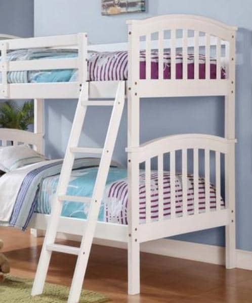 Quinn White Bunk Bed Custom Kids Furniture