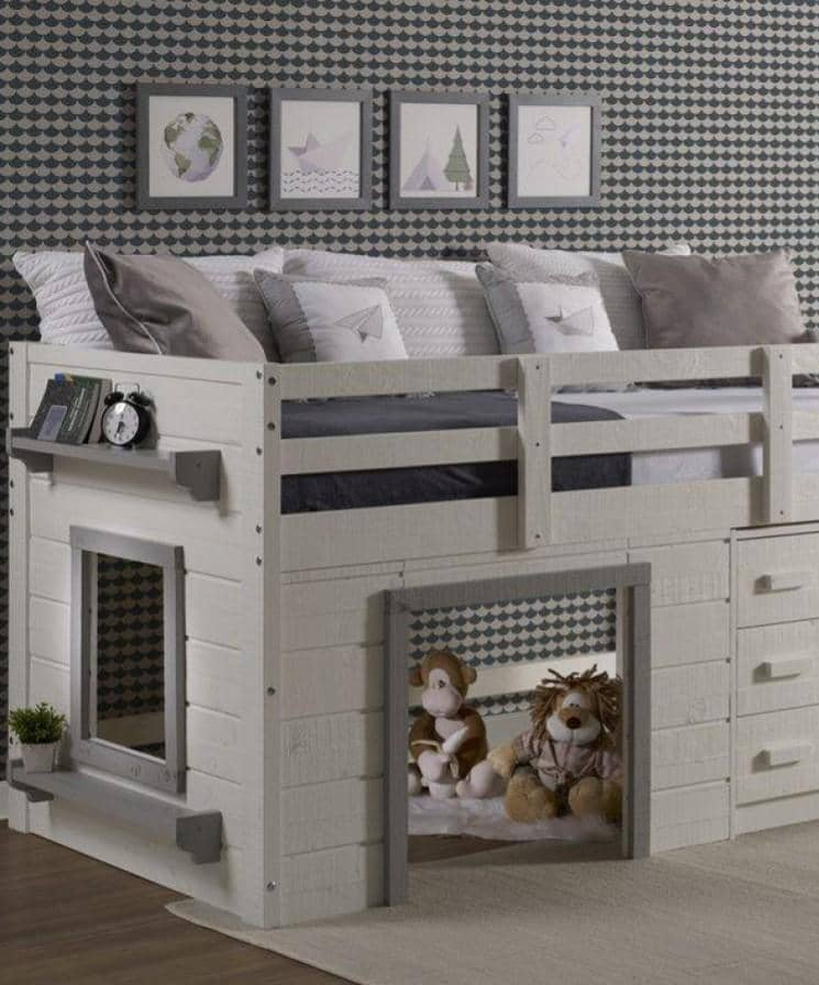 Rayne Play Loft with Storage Custom Kids Furniture