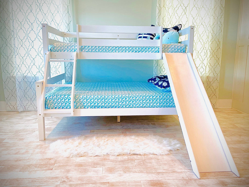 Reese Twin over Full Bunk Bed with Slide Custom Kids Furniture