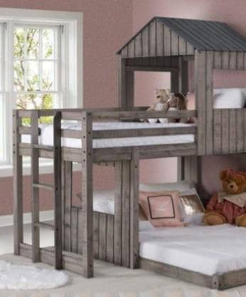 Rory Twin over Full Camp Out Bunk Bed Custom Kids Furniture