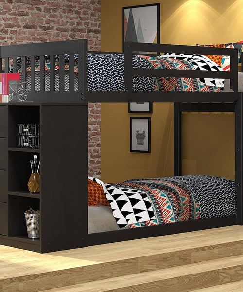 Ryder Black Bunk Bed Custom Kids Furniture