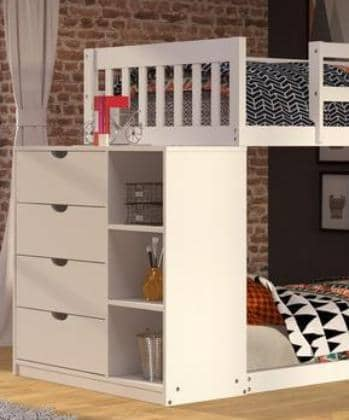 Sadie White Bunk Bed Custom Kids Furniture