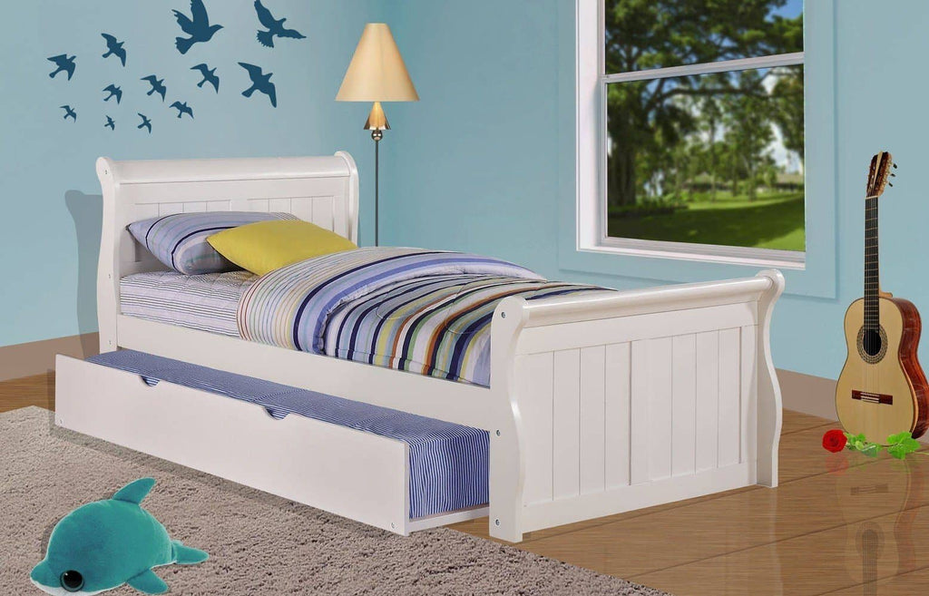Scarlett Twin Sleigh Bed with Trundle Custom Kids Furniture