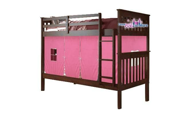 Stella Bunk Bed for Girls with Tent Custom Kids Furniture