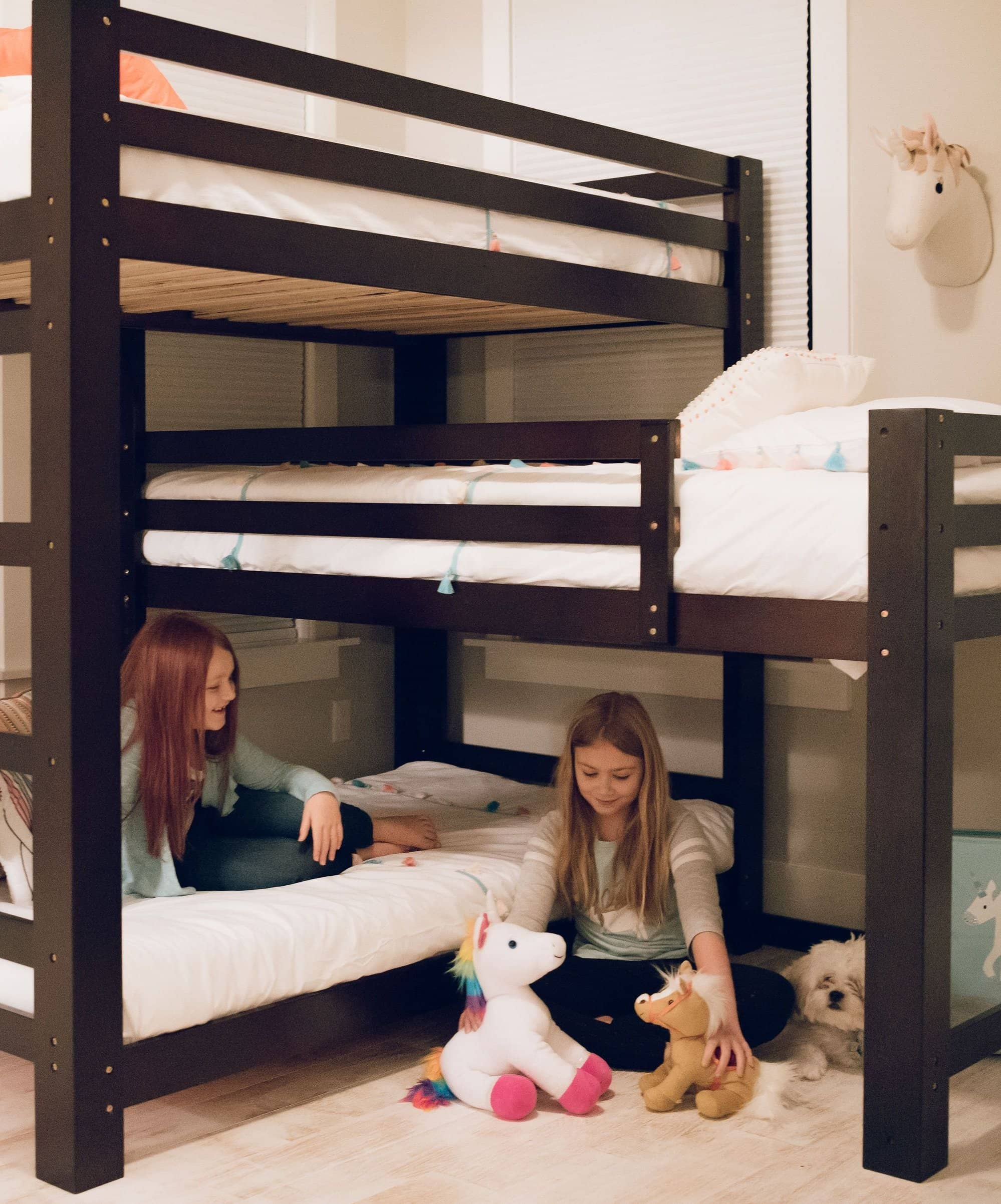 Picture of: Sydney L Shaped Triple Bunk Bed Custom Kids Furniture