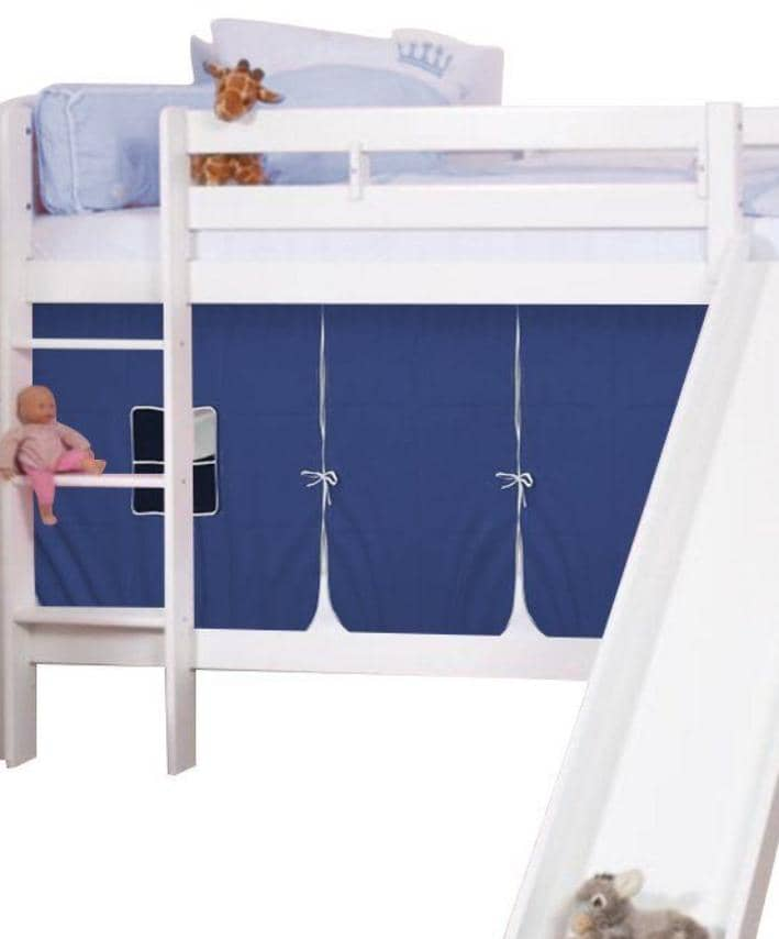 Theodore Bunk Bed with Slide and Tent for Boys Custom Kids Furniture