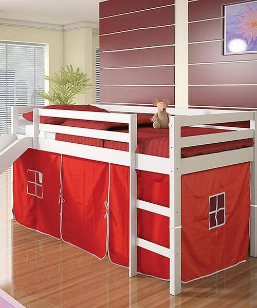 Thomas Kids Bed with Slide and Red Tent Custom Kids Furniture